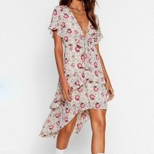 Nasty Gal Playing For Flower Floral midi dress 4